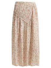 skirt,print,silk,cream