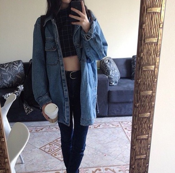 Jacket Coat Denim Jacket Tumblr Outfit Grunge Jean Jacket Jeans Denim Jacket Blue Tumblr ...