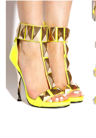 shoes yellow yellow shoes gold shoes