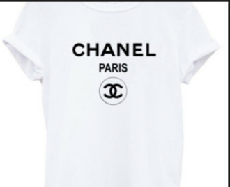 chanel t-shirt graphic tee