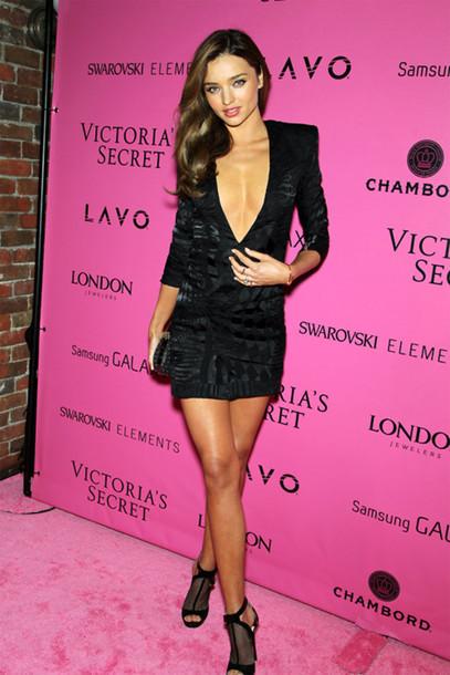 f79d20c3fa91 dress black little black dress plunge v neck long sleeve dress mini dress  plunge neckline