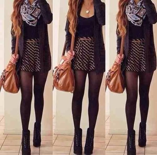 shorts printed shorts black and white shorts heels laced heels jacket shoes
