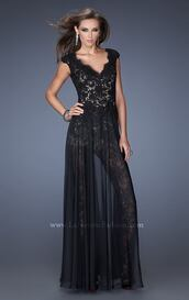 dress,lace black,evening outfits,long