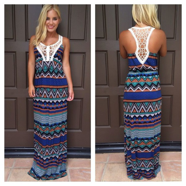 ustrendy ustrendy dress aztec tribal pattern dress