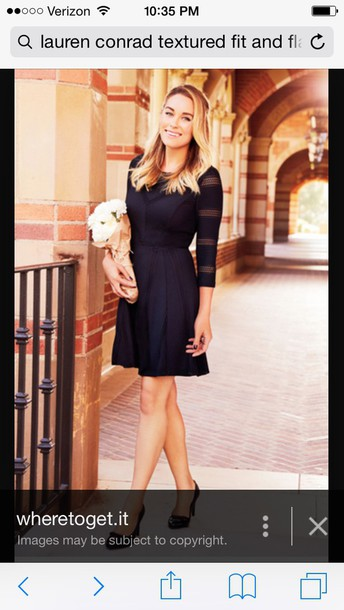 dress lauren conrad black fit and flaree
