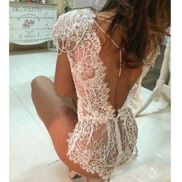 romper lace romper white lace romper bodysuit