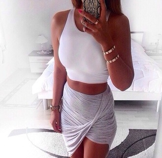 skirt wrap sarong summer grey tight white shirt crop tops tan skin tan phone case ipohone iphone iphone cover iphone case
