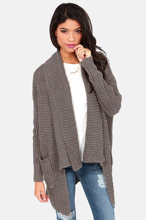 Cardi Party Grey Cardigan Sweater on Wanelo