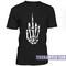 Fuck off skeleton hand sign t-shirt - teenamycs