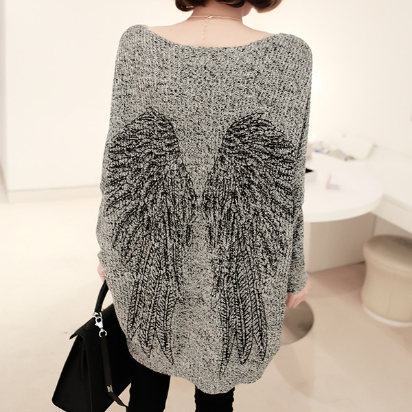 sweater angel angels wings loose knitwear