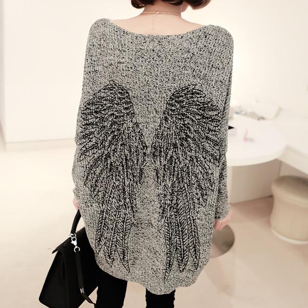 sweater angel angels wings loose knitwear