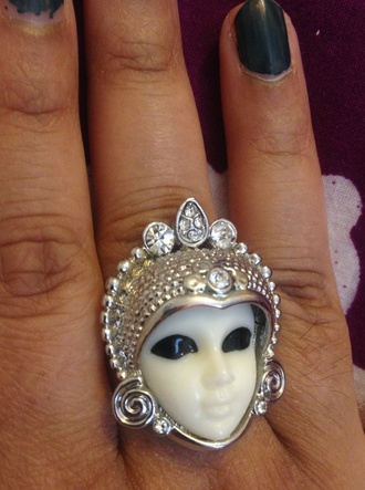 jewels ring egyptian silver ring porcelain doll oriental