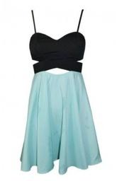 dress,black,mint,mint skirt,cut-out dress,criss cross,thin straps,formal party dresses,formal dress,short prom dress,glitter,little,clothes,girl