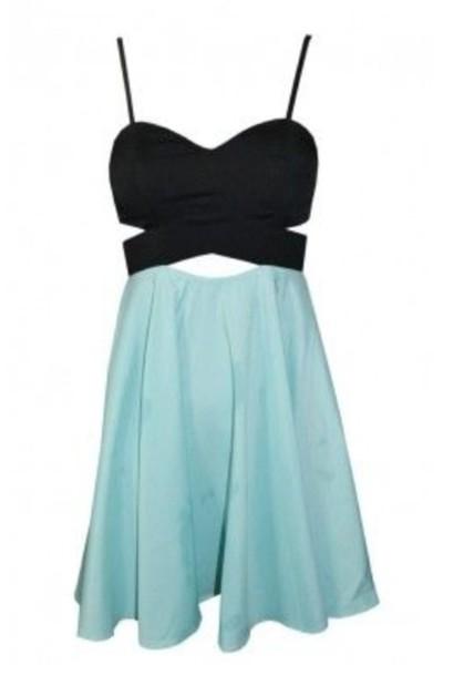 Dress Black Mint Mint Skirt Cut Out Dress Criss Cross Criss