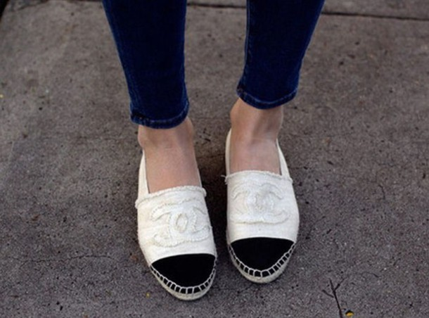 shoes, chanel, chanel espadrilles, coco