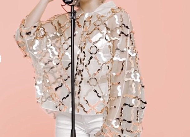 discount sale release info on official images blouse, anne marie, rose gold - Wheretoget