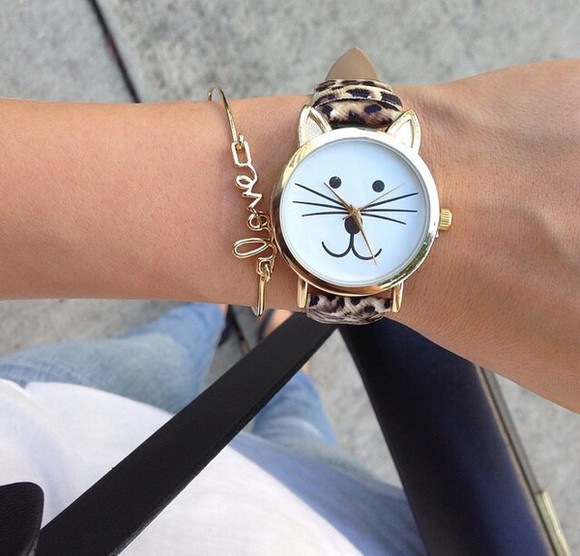 cats jewels watch lovely time chic