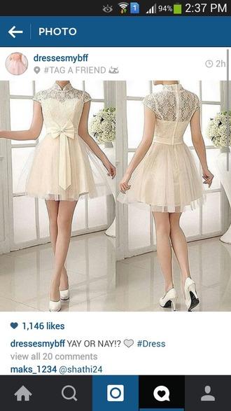 dress creamdress fashion cute cute dress