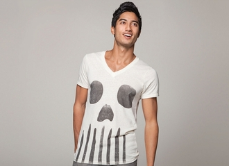 t-shirt boy menswear bone skull t-shirt mens t-shirt skull