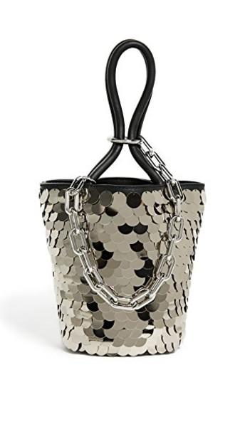 Alexander Wang mini shiny bag bucket bag black