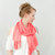 Pink Coral Scarf, Lightweight Scarf, SALE Infinity Light Wide Fashion Head Hair Wrap Light