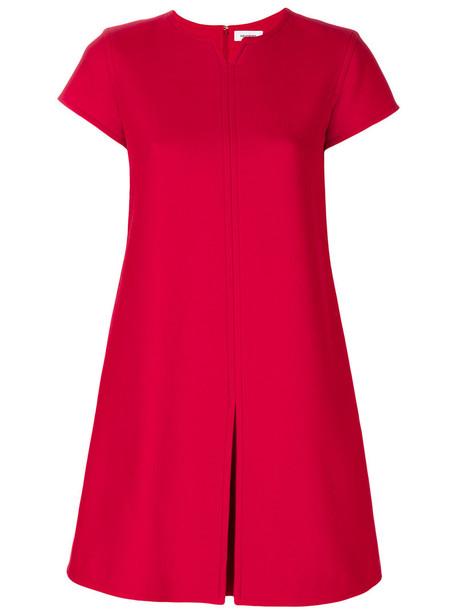 COURRÈGES dress women spandex wool red