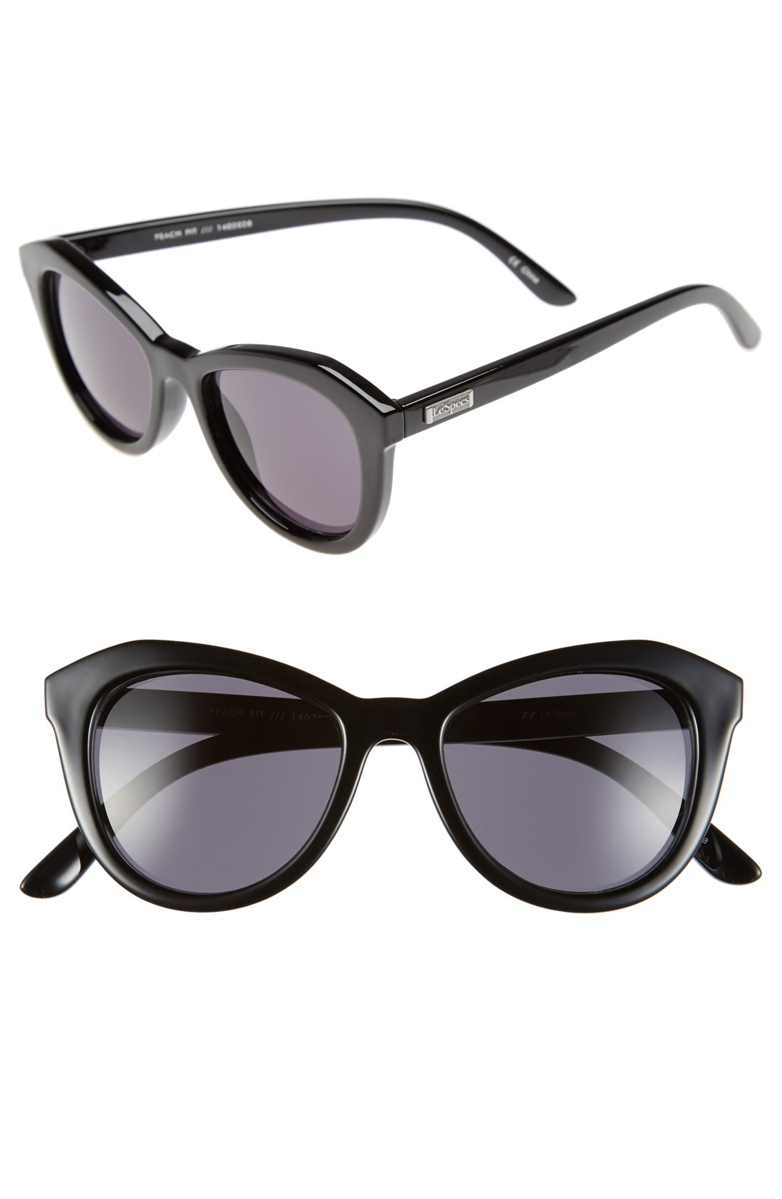 3f033c3dc9 Le Specs  Peach Pit  52mm Cat Eye Sunglasses