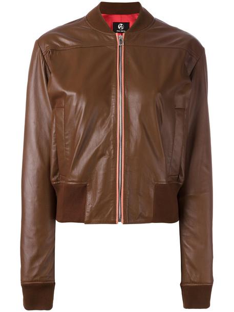 Jacket Bomber Jacket Women Leather Brown Wheretoget