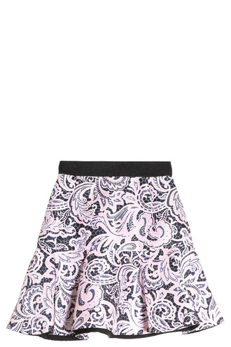 skirt satin pink