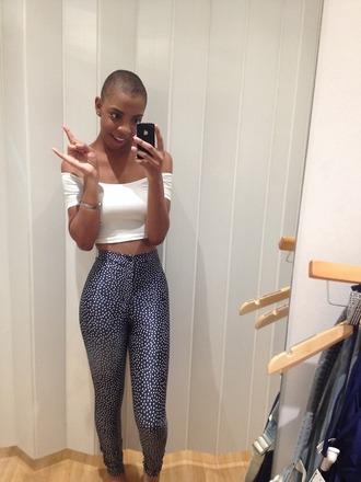 jeans pants leggings pattern polka dots
