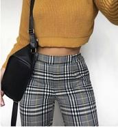 pants,yellow,grey,white,stripes,plaid