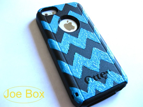 shoes otterbox etsy etsy sale sale cheveron chevron cheveron print iphone case iphone 5c iphone 5 case iphone 5c bling glitter blue black phone cover iphone cover glitter