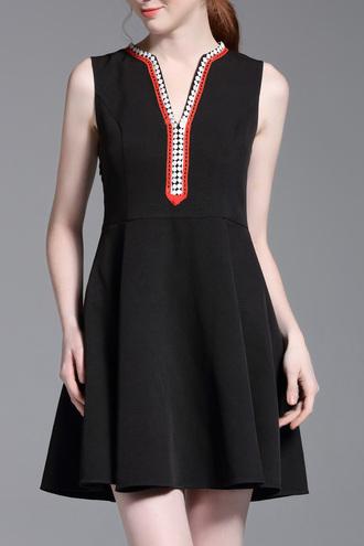 dress dezzal black dress kaftan summer fashion skater dress trendy style