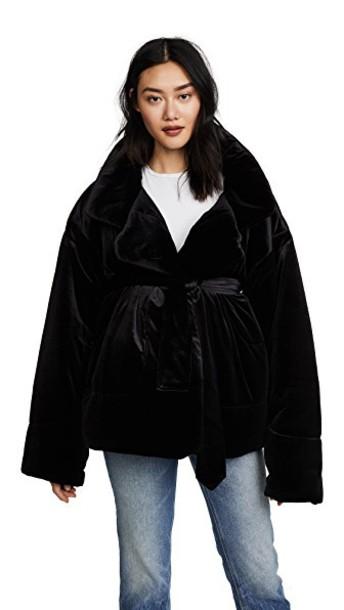 Norma Kamali coat short black