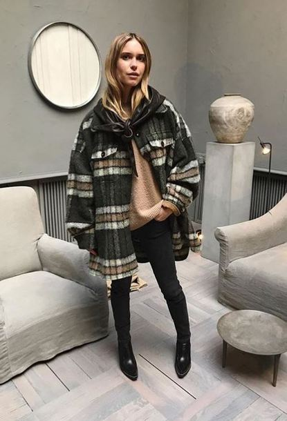 coat fall outfits blogger sweater instagram pernille teisbaek shirt