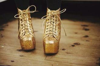 shoes gold glitter lita lita platform boot lita platform