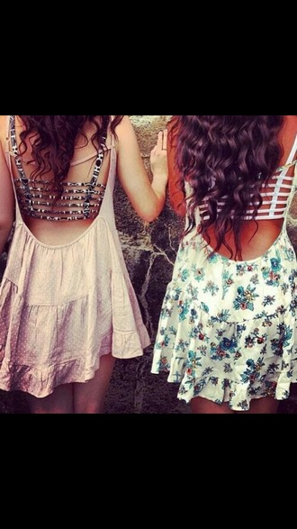 dress floral dress floral pretty dress! pretty solid solid dress outfit underwear crop tops bralette