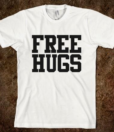 Free hugs xpress skreened t shirts organic shirts for Organic custom t shirts