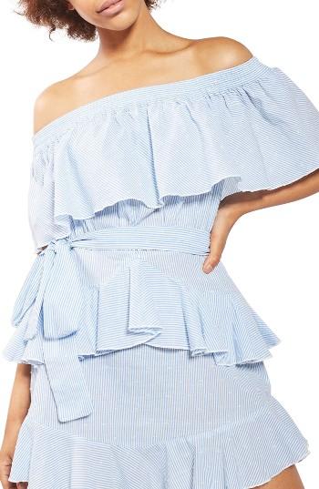 Topshop Bardot Ruffle Stripe Dress | Nordstrom
