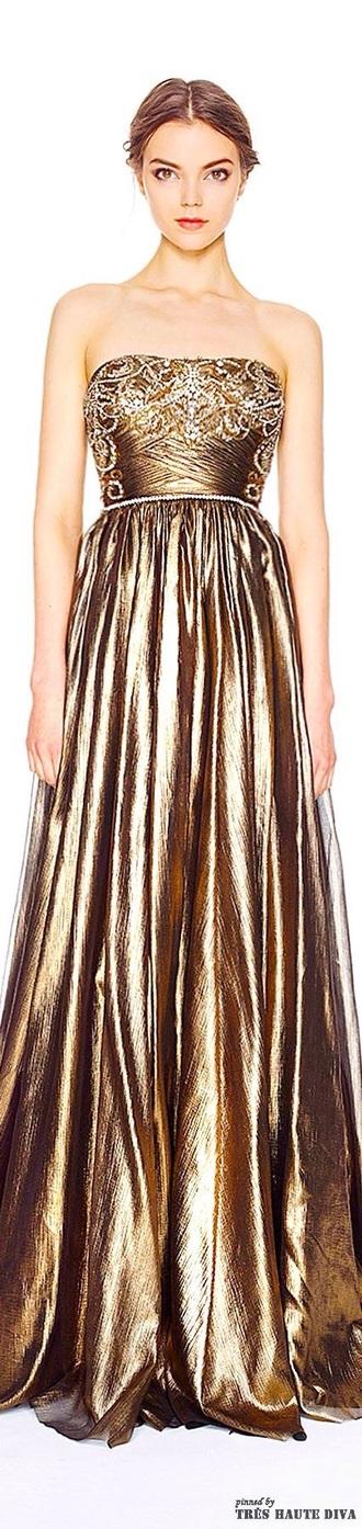 dress gold gold dress strapless prom dress prom