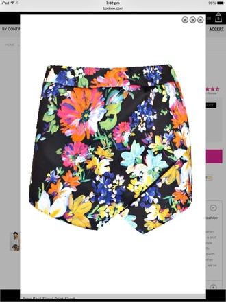 pants skorts black floral floral skort black skorts