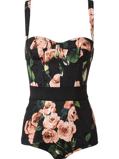 Dolce & Gabbana Floral Print Body Suit -  - Farfetch.com