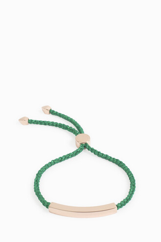 friendship bracelet women green jewels