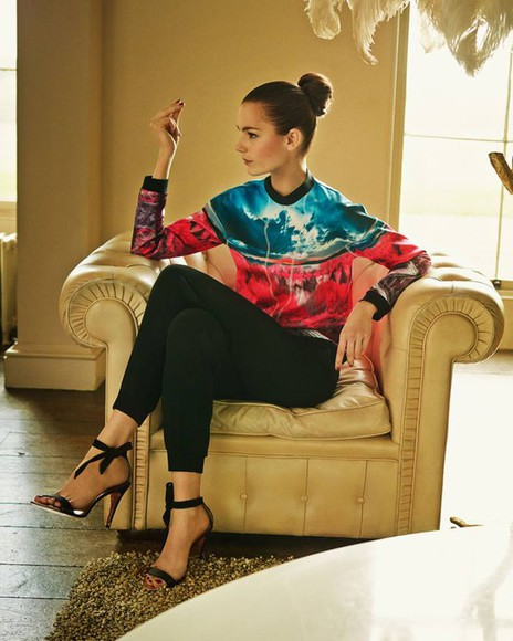 black chic fashion shoes blouse orange cyan red elegant heels with bows high heels high heel sandals black high heels with bows colorful colourful colorful blouse