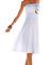 Beach wear strapless sleeveless flowing dresses white