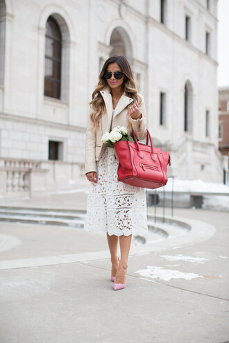 maria vizuete mia mia mine blogger dress jacket shoes bag sunglasses jewels