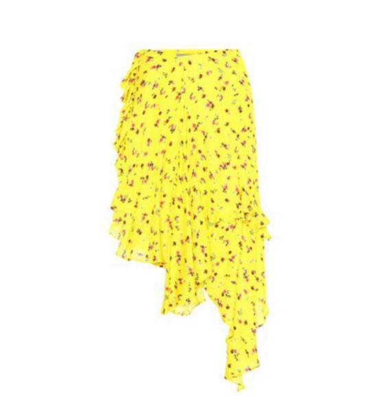 PREEN BY THORNTON BREGAZZI skirt midi skirt midi yellow