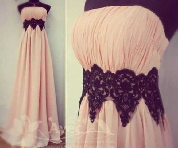prom dress light pink dress