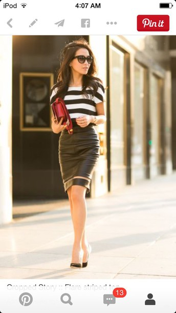 skirt two-piece stripes fancy dress casual dress