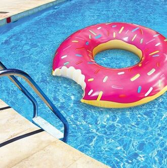 home accessory floating donuts donut pool accessory swimwear inflatabe pink